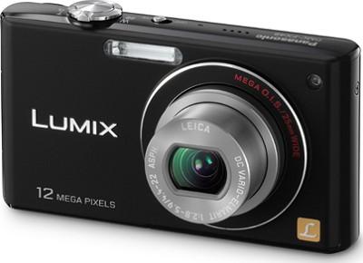 DMC-FX48K LUMIX 12.1 MP Compact Digital Camera w/HD Movie (Black) REFURBISHED
