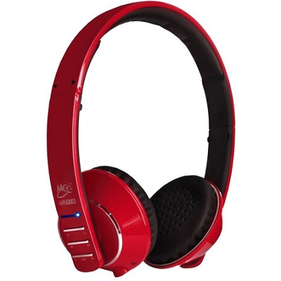 Air-Fi Runaway AF32 Stereo Bluetooth Wireless Headphones w/ Hidden Mic. (Red)