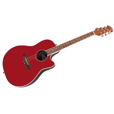 AE128-RR Super Shallow Acoustic-Electric Cutaway - Ruby Red