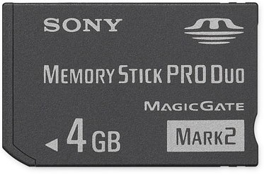 4GB Memory Stick PRO Duo  Mark 2 Media  {MS-MT4G}