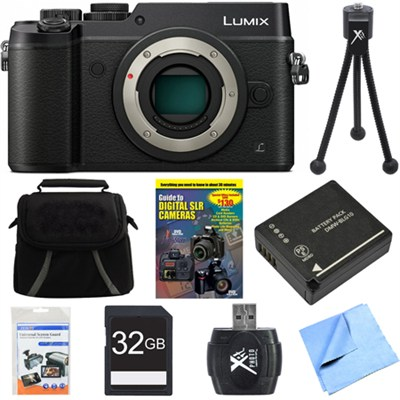 DMC-GX8KBODY LUMIX GX8 4K Interchangeable Lens (DSLM) Camera Body Black Bundle
