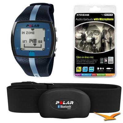 FT4 Heart Rate Monitor - Blue/Blue (90047622) Bundle