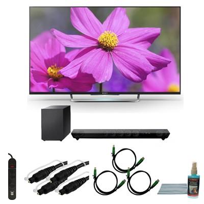 KDL55W800B - 55-Inch Premium LED HDTV 3D Built-In WiFi Motionflow Bundle