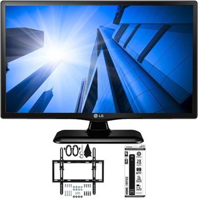 LG24LF452B - 24-Inch HD 720p 60Hz LED TV w/ Flat + Tilt Wall Mount Bundle