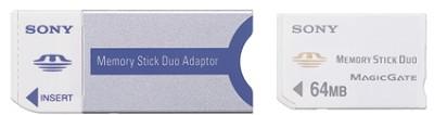 Memory Stick Duo Replacement Adaptor