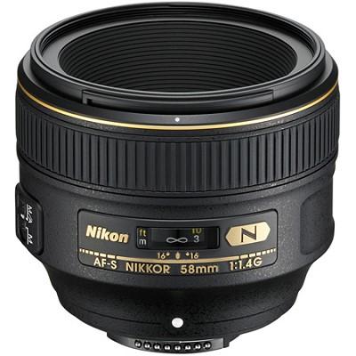 AF-S NIKKOR 58mm f/1.4G Lens Refurbished with warranty