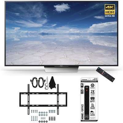 XBR-65X850D 65-Inch Class 4K HDR Ultra HD TV Slim Flat Wall Mount Bundle