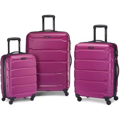 Omni Hardside Luggage Nested Spinner Set (20`/24`/28`) Radiant Pink (68311-0596)