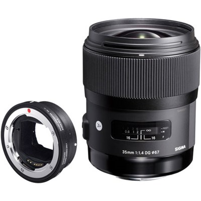 Art 35mm F/1.4 DG HSM Wide-Angle Canon Lens Plus Sony MC-11 Mount Converter Kit