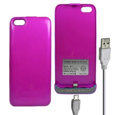 iPhone 5 Battery Case 2600mAh - Purple