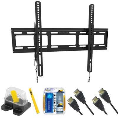 Large Size Tilt TV Mount & Set Up Kit for 37`-70` TVs up to 110LB - TLR-EC3215T