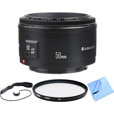 EF 50mm F/1.8 II Standard Auto Focus Lens Exclusive Pro Kit
