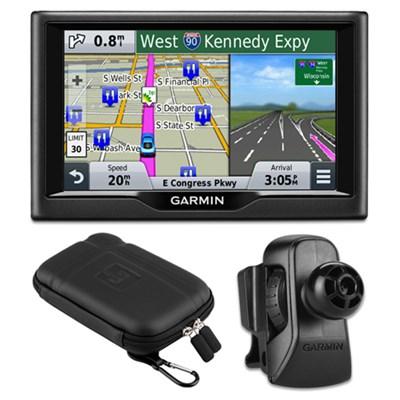 nuvi 58 5` Essential Series 2015 GPS US & Canada Vent Mount & Case Bundle