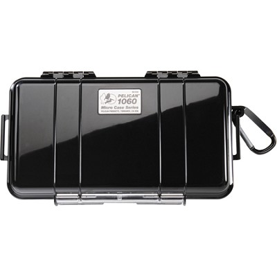1060 Micro Case with Clear Lid and Carabineer (Black)
