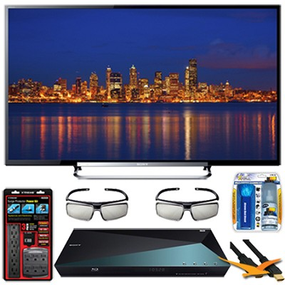 KDL-70R550A 70-Inch 120Hz 3D Wifi 1080p LED HDTV Blu-ray Streaming WiFi Bundle