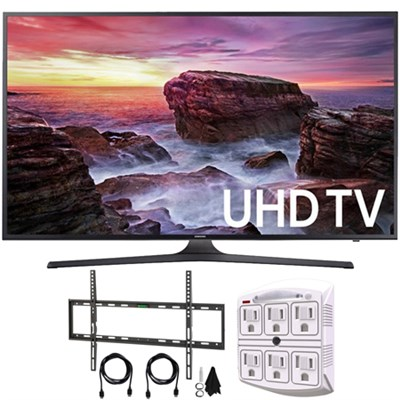 Flat 64.5` LED 4K UHD 6 Series Smart TV (2017) + Flat Wall Mount Kit