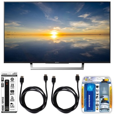 XBR-49X800D - 49` Class 4K HDR Ultra HD TV w/ Essential Accessory Bundle