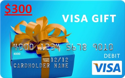 $300 Gift Card (Allow 6-8 weeks for delivery)