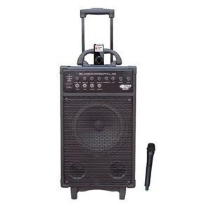 PWMA930I 600-Watt VHF Wireless Portable PA System/Echo with iPod Dock