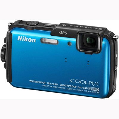 COOLPIX AW110 16MP Waterproof Shockproof Freezeproof Blue Digital Camera