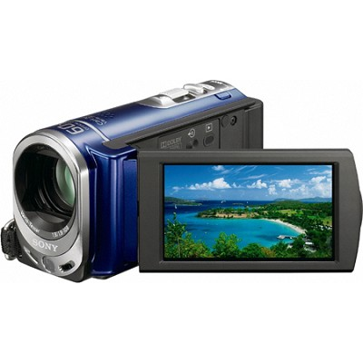 Handycam DCR-SX44 Palm-sized Blue Camcorder w/ 60x Optical Zoom and 4GB memory