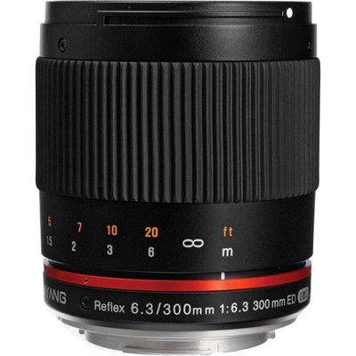 300mm F6.3 Mirror Lens for Canon M - Black