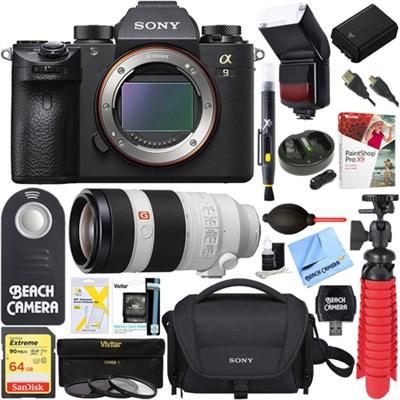 Alpha a9 Mirrorless Digital Camera + 100-400mm Super Telephoto Zoom Lens Bundle