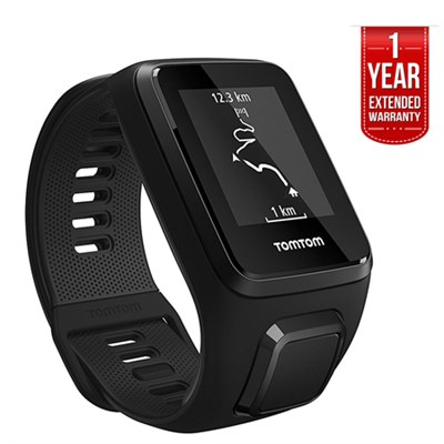 Spark 3, GPS Fitness Watch & Activity Tracker Black, Large + EXTENDED WARRANTY