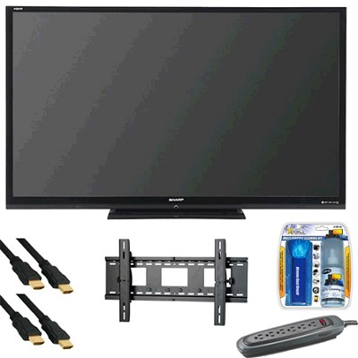 AQUOS 80 inch LE844 Series 3D LED Black Flat Panel HDTV - LC-80LE844U
