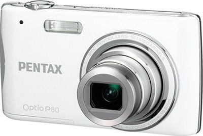 Optio P80 12MP Digital Camera (Pearl)