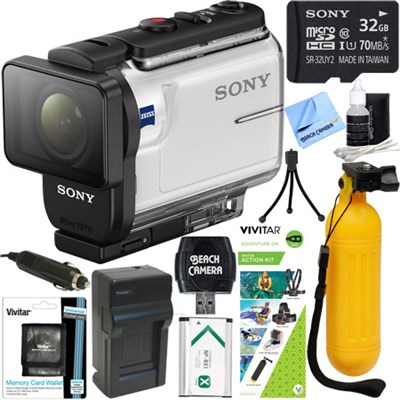 HDR-AS300 Action Cam + Water Action Kit & Memory Bundle