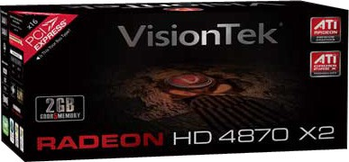 Radeon HD4870 X2 2GB DDR5 PCIe 2.0 Graphics Card