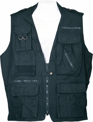 Safari Vest - Black, Large