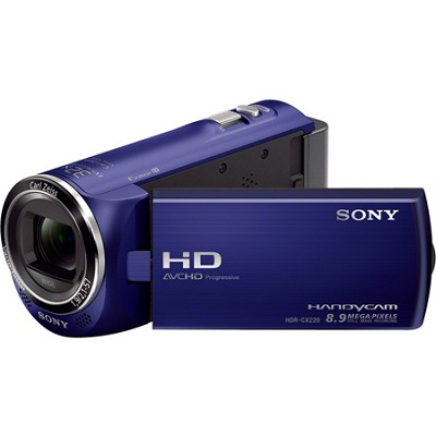 HDR-CX220/L Full HD Camcorder (Blue) - OPEN BOX