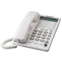 KX-TS108W 1 Line Corded Telephone with 16 Digit LCD With Clock & Speakerphone