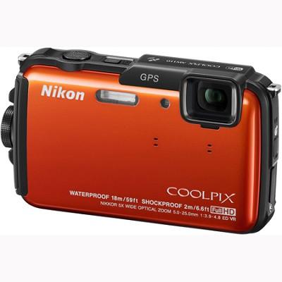 COOLPIX AW110 Waterproof Digital Camera (Orange)