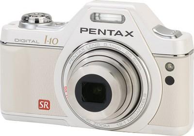 Optio I-10 Compact Digital Camera Pearl White