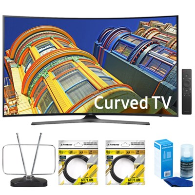 Curved 65` 4K UHD HDR Premium LED Smart TV UN65KU6500 w/ Accessories Kit