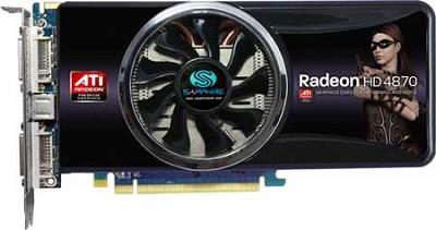 HD4870 PCIE 1GB DDR5 2PORT DVI-I TV OUT 256BIT