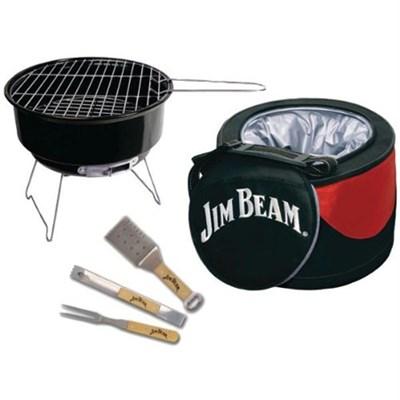 5-Piece Mini Cooler & Grill Combo Set w/ BBQ Tools - JB0105