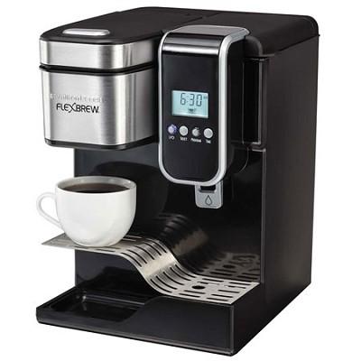 Single-Serve Coffee Maker, Programmable FlexBrew with Hot Water Dispenser