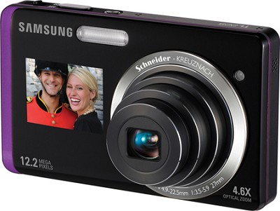 TL225 DualView 12MP 3.5 inch Touchscreen LCD Digital Camera (Purple)