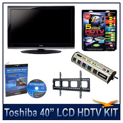 40E200U 40` 1080p LCD HDTV + Flat Mount, Hook-Up, Power Protection, Calibration