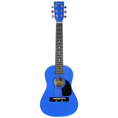 LAPKMBL 30` Student Acoustic/Electric Guitar Package - Metallic Blue