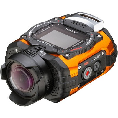 WG-M1 Compact Waterproof Action Digital Camera Kit - Orange - OPEN BOX