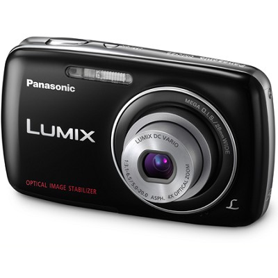 Lumix DMC-S3 14MP Compact Black Digital Camera w/ 720p HD Video