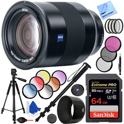 Batis 135mm f/2.8 Full Frame Lens for Sony E Mount + 64GB Accessory Kit