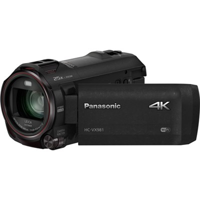 HC-VX981K 4K Ultra HD Camcorder with Wi-Fi, Twin Camera, Photo - Blk - OPEN BOX