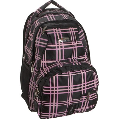 Child School BackPack, Lavender Plaid, One Size