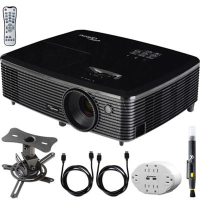 HD143X Full HD 1080p 3D DLP Home Theater Projector w/ Mount Bundle